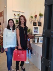 Elisa Cuesta de Luxeli con Cristina Paz-Peñuelas de Miss Uve